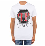 Philipp Plein T-hirt platinum cut round neck wit