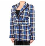 Pinko Siulare giacca tweed blauw