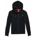 Superdry Collective zip hood cardigan zwart