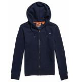 Superdry Collective zip hood cardigan blauw