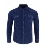 Gabbiano Ribcord shirt navy blauw
