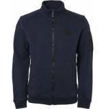 Noize Sweat cardigan full zip blauw