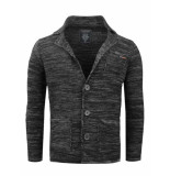 Gabbiano Vest met revers kraag black zwart