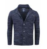 Gabbiano Vest met revers kraag blauw