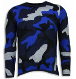 Justing Dazzle paint trui camouflage long fit sweater