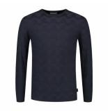 Emporio Armani 6g1mtk 1mypz pullover blauw