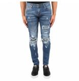XPLCT Studios Biker jeans blauw