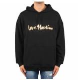 Love Moschino Cappuccio st logo corsivo zwart