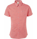 No Excess Shirt, s/sl, all over print, stretc red rood