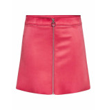 Only New ea faux suede skirt rood