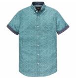 Vanguard Short sleeve shirt cf poplin print hydro blauw