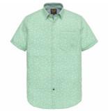 PME Legend Short sleeve shirt chambray print opal groen