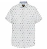 PME Legend Short sleeve shirt fil coupe bright white wit