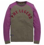 PME Legend Long sleeve r-neck light terry mel purple passion paars