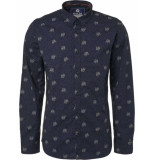 Noize Shirt, l/s, all over printed dog blauw