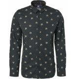 Noize Shirt, l/s, all over printed dog groen