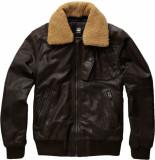 G-Star Bollard leather bomber jacket bruin