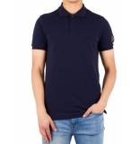 ICEBERG Sleeve brand polo blauw