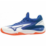 Mizuno Tennisschoen men wave impulse cc white rblue nastirtium blauw