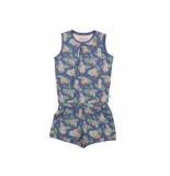 Charlie Choe Jumpsuit kort wild flowers blauw