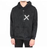 REPRESENT Detroyed logo hoodie zwart