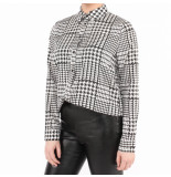 NA-KD Checkered long leeve hirt zwart