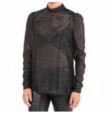 Pinko Bruno blusa fil coupe zwart