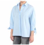 Pinko Facile 1 camicia over popeline blauw