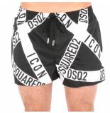 Dsquared2 Boxer midi zwart