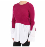 Kenzo Top 2 in 1 mixed knit wit