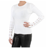 Kenzo Solid lacehole jumper wit