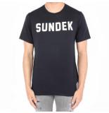 Sundek Writing t-shirt blauw