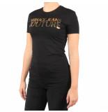 Versace T-hirt lady udm60814 gold zwart