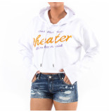 My Brand Cheater crop hoodie wit