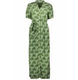 Pieces Pclianna ss long shirt dress d2d 17100136 garden green/leaves groen