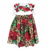 Dolce and Gabbana Kids Abito maniche corte rood