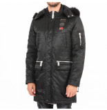 Philipp Plein Stateent coat long zwart