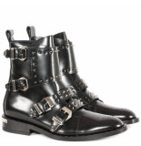Philipp Plein Jasmine boots low flat studs zwart