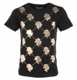 Reinders T-shirt logo mania zwart