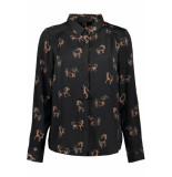 Vero Moda Vmlizzy animal l/s shirt exp 10224642 black/horse zwart