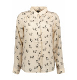 Vero Moda Vmlizzy animal l/s shirt exp 10224642 shifting sand/horse beige