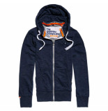 Superdry Orange label lite ziphood blauw
