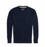 Superdry Orange label crew blauw