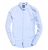 Superdry Tailored l/s slim blauw