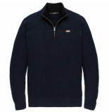 Vanguard Vkw196126 5287 half zip collar cotton nylon dark sapphire blauw