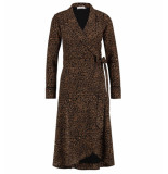 Freebird Halflange jurk isaya leopard bruin