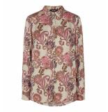 Mos Mosh Lange mouw blouse 129874 taylor zand beige