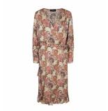 Mos Mosh Halflange jurk 129873 chita weave d zand beige