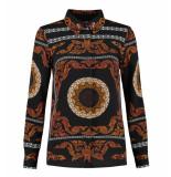 Nikkie Lange mouw blouse n6-545 1905 sahara blouse zwart