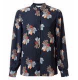 YAYA Lange mouw blouse 1101103-922 blauw
